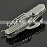 Stainless steel camping knife / fork spoon travel set