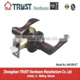 6461RB-ET:TRUST ANSI Grade 3 kwikset style Tubular Zinc Alloy Lever Lock with Brass cylinder