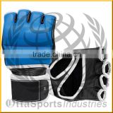 Pro Fight UFC MMA Gloves Genuine Leather Custom Printed Grappling & Cage Fight
