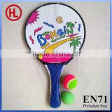 2 games beach paddle ball set,beach tennis racket velcro throw and catch ball,sticky ball set for kids