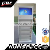 "19"" Stand Screen Advertising Kiosk Design Ads Lcd Monitor Advertising Smart Tv Free-Standing Digital Signage Usb Video Player"
