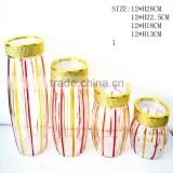 glass jar with plastic lid airtight tea container airtight tea storage tins