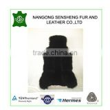 Black real long and sheared wool sheepskin car seat covers