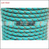 braided leather bolo cord cowhide leather cord manufactory