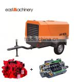 Portable Screw Compressor Diesel Engine Driven Air Compressor Compressor For Mining Yard