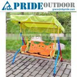 Lovely Cartoon Safety Baby Cradle Swing Metal Kids Patio Swing With Canopy                                                                         Quality Choice