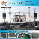 RGX Hanging style installation led display, P10mm led display with , outdoor video led display with pillar