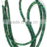 "1 Strand Emerald Corundum 3-4.5mm Faceted Rondelle Drilled 17"" Long Jewelry and Necklace Making Beads,Beaded Necklace"