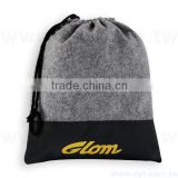 custom cheap embroidery felt drawstring bag