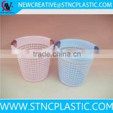 Easy Grip Handles Plastic Waste Paper Bin Basket White Rubbish Bin Bucket Office Bin Container
