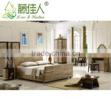 Simple Elegant Handicrafted Indonesia Natural Rattan Brisbane Stylish Design Home Hotel Baliness Bedroom Furniture Set Bali Bed