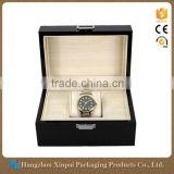 Custom Cheap Single Glossy Wood Luxury Black Lacquer Watch Box                                                                         Quality Choice