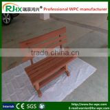 Resistant to rot wood-plastic composite deck for outdoor garden chair and park bench chair