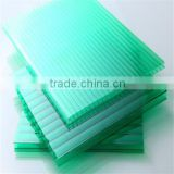 polycarbonate clear green blue frozen hollow sheet/pc double wall board of roof/pc sun sheet roof