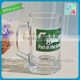 Famous Brand Promotional Glass Beer Mug Logo Decorative Advertising Beer Cups Drinking Alcohol Promotional Advertising Glass Mug