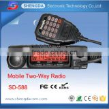 military quality dmr mobile radio, dual band vhf&uhf digital mobile radio