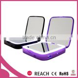 Portable power bank 3000 mAH / Slim power bank mirror compact / Squaer power bank with LED mirror