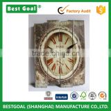 Retro Antique Silent No Ticking Wood Wall Clock