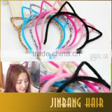 Wholesale 6 Colors Stylish Women Girls Cat Ears Headband Hairband Hair Band Accessories Head-wear