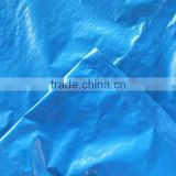 double blue high quality pe tarpaulin sheet trestle leno woven fabric high tensible strong striped hem 1 meter interval anti-uv