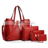 European and American fashion lady handbags city beauty handbag colorful PU bag lash package 3-piece suit