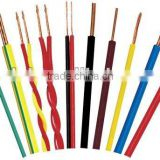 pvc cloth cover electric copper cable wire copper soild or stranded AWG PVC wire