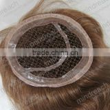 "Hot selling top quality 12"" 4#/6# blend big body wave Indian remy human hair fishnet closure"