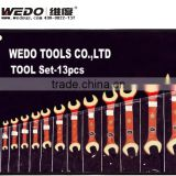 Non-sparking; High quality Anti spark; China Manufacturer; OEM service; Die forging Double Open End Wrench/ Spanner Set