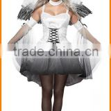 2015 New Halloween Ghost bride outfit Halloween White Devil and angel role playing dress