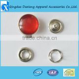 Graceful pearl snap button in red color