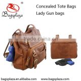 GB002 Wholesale brown PU blank concealed woman gun tote bags                                                                         Quality Choice