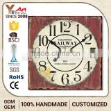 Hot 2016 Excellent Quality Personalized Design Antique Mdf Decorative Art Wall Clock Picture