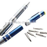 TE434 2015 Hot Sale Screwdriver Pen with LED Tool Kit With 6Pcs Screwdriver+Led
