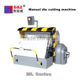 Manual paperboard die cutter and creaser/packing paper cutter manual/die cutting machine