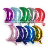 10 inch Moon shape Foil Helium Balloons For Wedding&Party Decoration