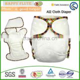 Happy Flute Onesize bamboo cotton fitted diaper natural AI2 hemp diaper fit babies from 5-15kgs baby clothes wholesale price                                                                         Quality Choice