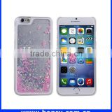 Mobile accessories popular hard pc flowing glitter liquid case moving glitter case for iphone 6 china wholesale