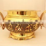 incense burner (brass & antique brass ,genuine pearl )
