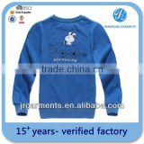 Bulk Cheap Kid's 100% Polyester Blue Round neck Printed Fleece Sweatshirt for unisex Factory