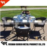 cheap modern rattan Dining room rattan furniture cyber indoor cafe china tables and chairs                                                                         Quality Choice