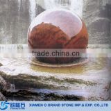 Garden Outdoor Nature Stone Ball Stone Sphere Rotating Ball Fountain