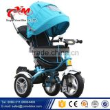 Smart trike 4 in 1 photo children tricycle / rotated seat baby luxus tricycle with three rubber wheels / luxus trike for baby