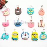 Cartoon Anime Silicone Cute Owl Key Cover Key Cap Stitch Keychain Women Key Chain Key Ring Key Holder Gifts