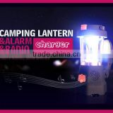 USB / re-wind Camping Lantern torch / AM FM RADIO /Emergency phone charger / Power bank/ Siren
