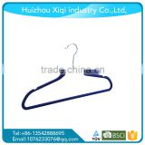 Wholesale Black Velvet Hanger/Suits Hangers With Notches Anti-slip