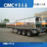 CIMC stainless steel 50000 liters fuel tank semi trailer