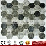 IMARK 3D Inkjet Printed Cement tile liked Glass Mosaic Tile For Luxury Tile/Wall Decoration/ Code IH6-002 Hexagon Tile
