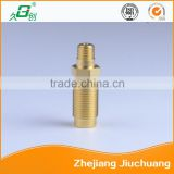 Double male brass pipe fitting straight joints hose Connector
