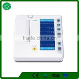 12 Leads Wireless ECG Machine , ECG Monitoring Device 7 Inch LCD Display