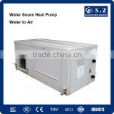 Amb.-35C winter ground water source to room air duct GSHP 9kw.12kw,18kw heating+cooling geothermal heat pump buffer tank